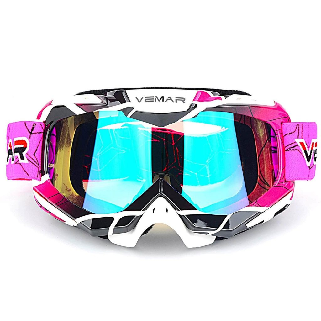ATV Racing Goggles Dirt Bike Tactical Riding Motorbike Goggle Glasses, Bendable Windproof Dustproof Scratch Resistant Protective Safety Glasses