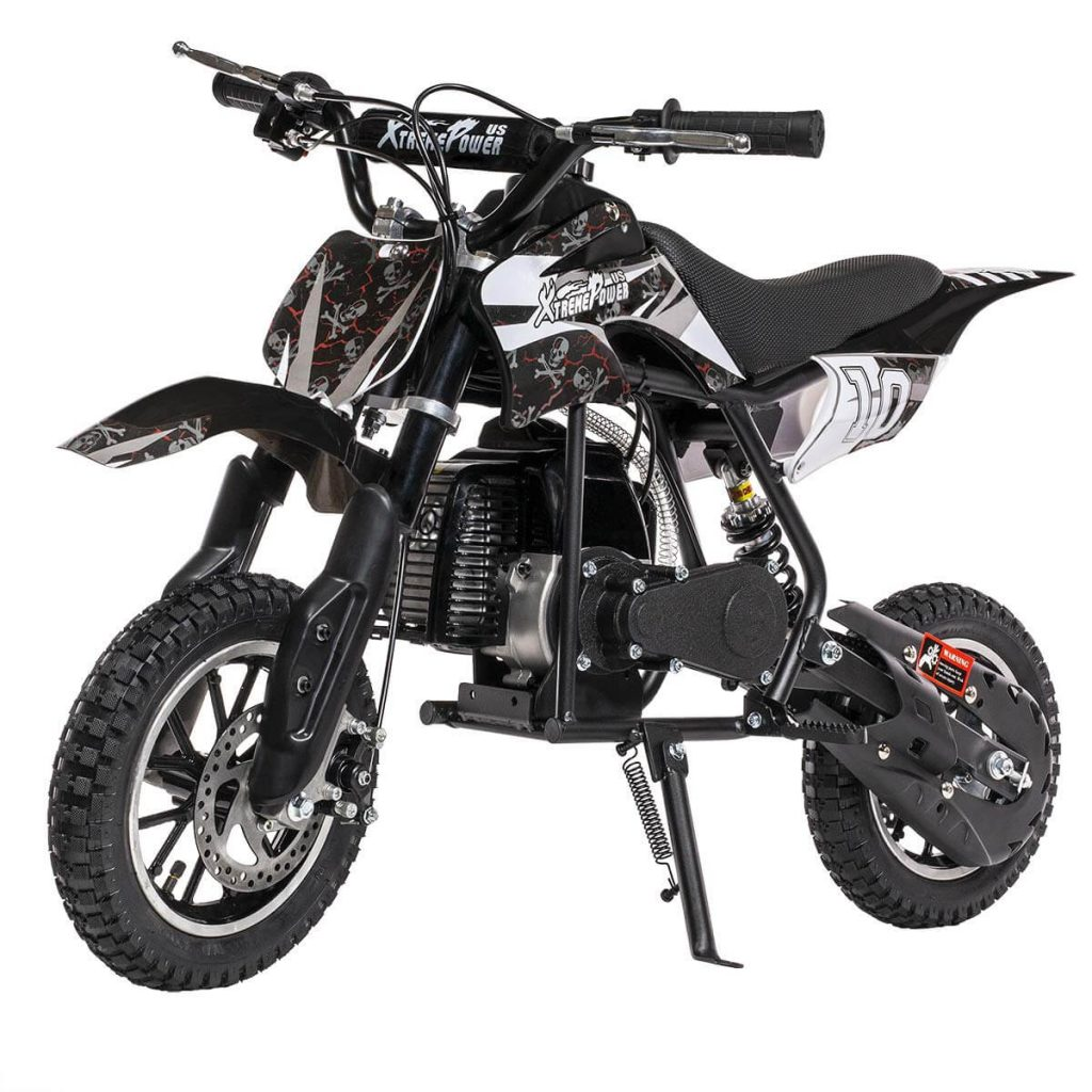 XtremepowerUS 49CC 2-Stroke Gas Power Mini Pocket Dirt Bike Dirt Off Road Motorcycle Ride-on Kickstand