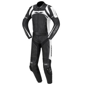 Motorcycle New Black Two piece Leather Track Racing Suit CE Approved Protection