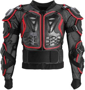 Motorcycle Full Body Armor Protective Jacket ATV Guard Shirt Gear Jacket Armor Pro Street Motocross Protector with Back Protection Men Women for Off-Road Racing Dirt Bike Skiing Skating