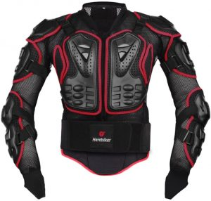 HEROBIKER Motorcycle Full Body Armor Jacket spine chest protection gear Motocross Motos Protector Motorcycle