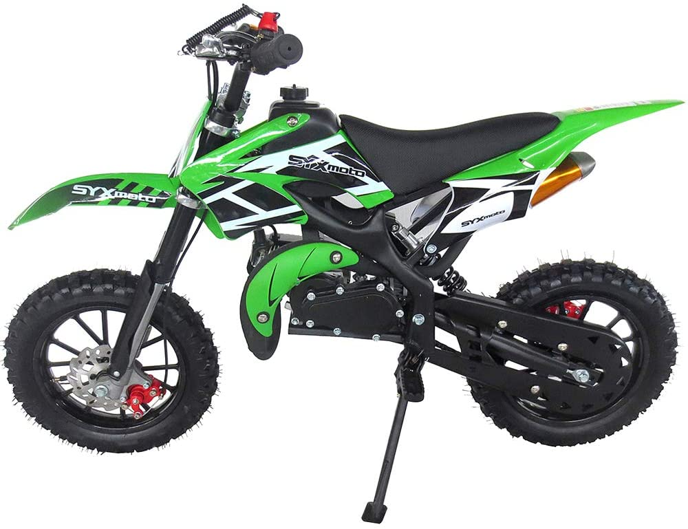SYX MOTO Kids Mini Dirt Bike Gas Power 2-Stroke 50cc Motorcycle Holeshot Off Road Motorcycle Holeshot Pit Bike
